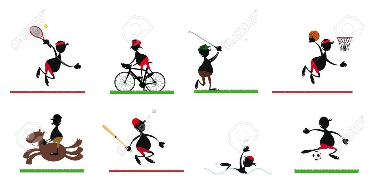 Drole Homme Sportif Clip Art Libres De Droits Vecteurs Et Illustration Image 22067903