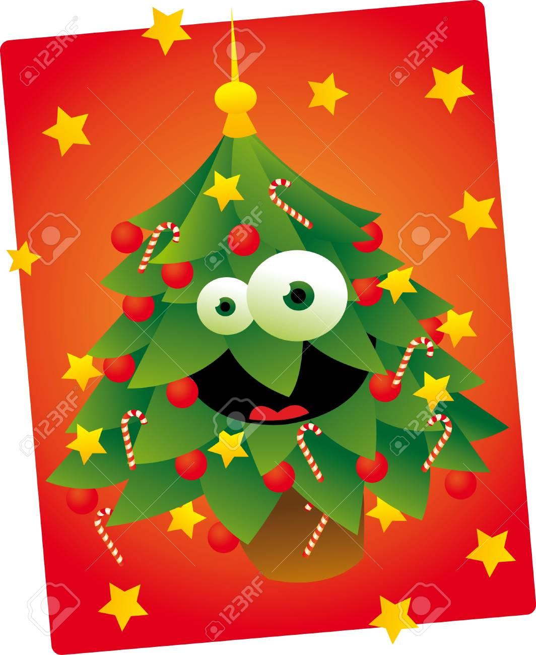 Cute Christmas Tree Stock Vector - 22067978