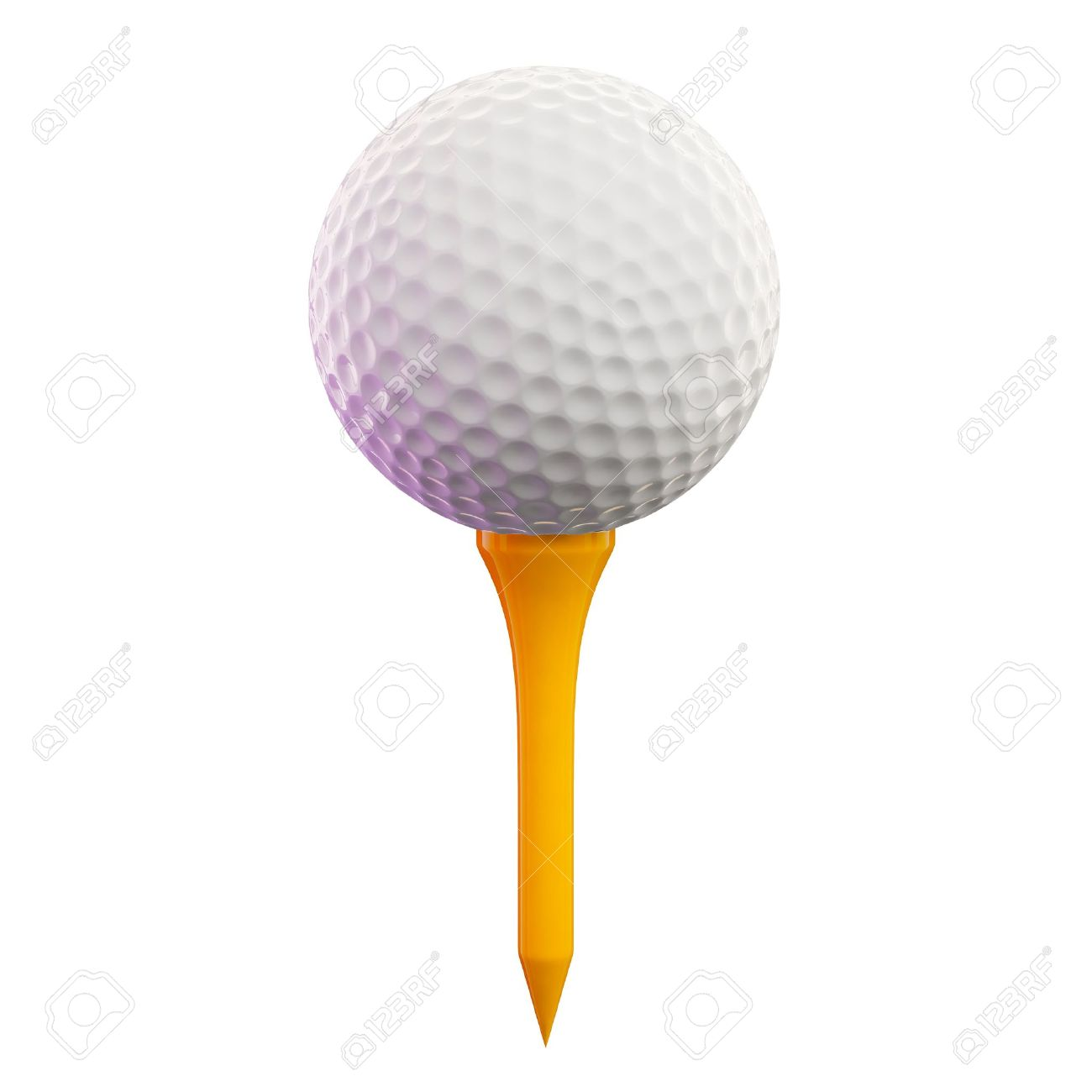 3d Render Of A Golf Ball On Tee Stock Photo Picture And Royalty Free Image Image 7729677