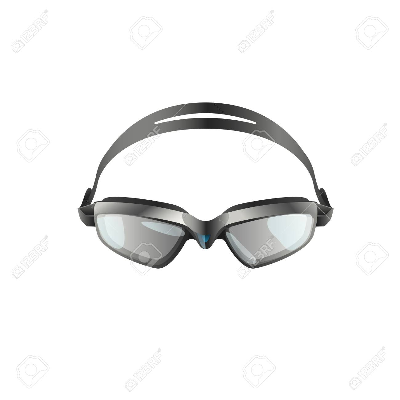 Swimming goggles flat icon. Swimming pool, professional sport,..