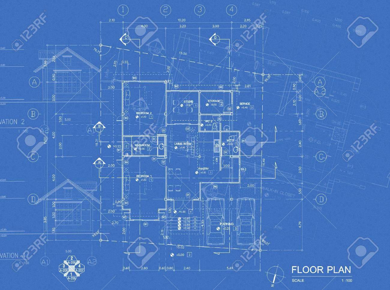 overlay of house blueprint floor plan elevations and washroom