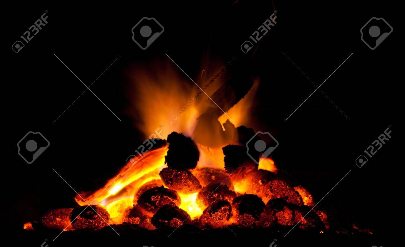 Fire and coal Stock Photo - 8392869