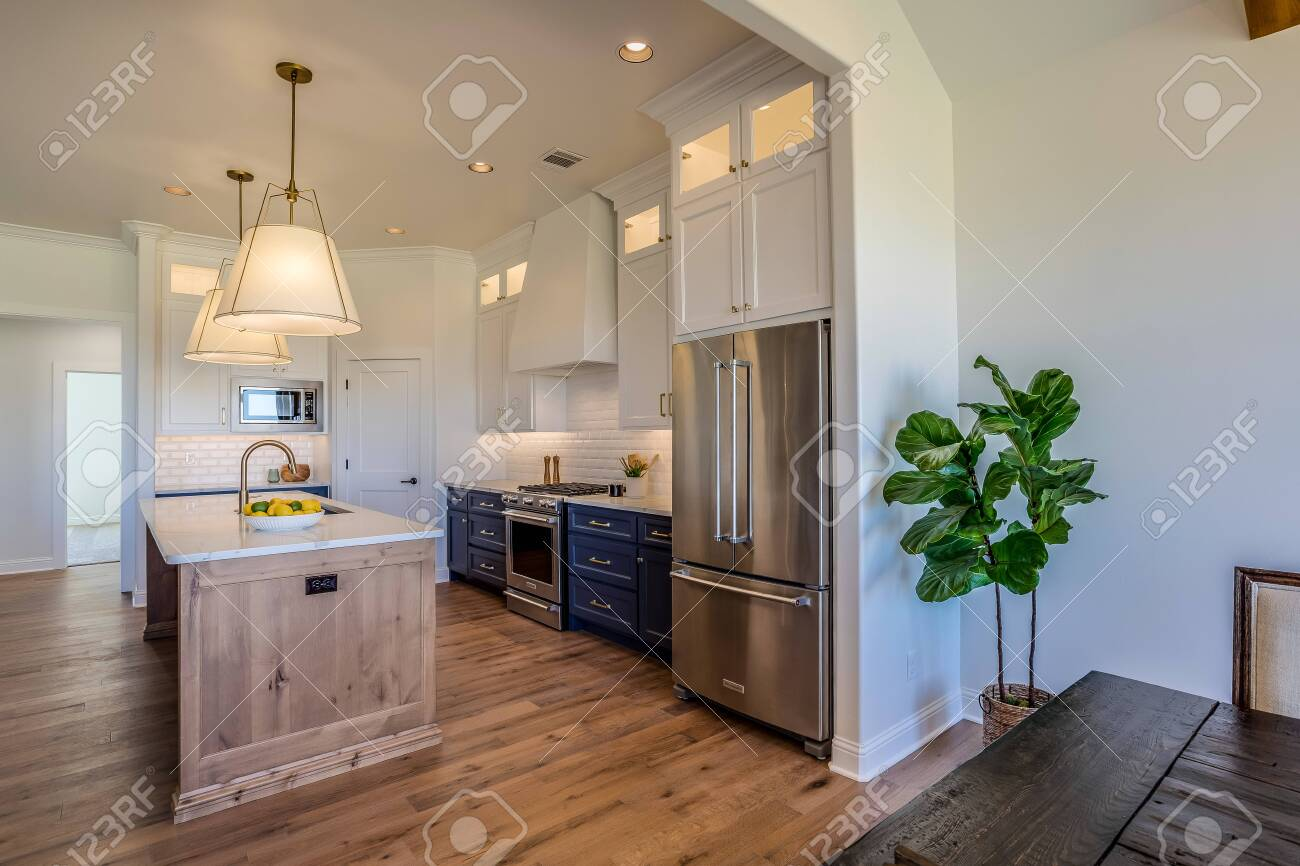 Beautiful Kitchen With Floor To Ceiling Custom Built Cabinets Stock Photo Picture And Royalty Free Image Image 147537832