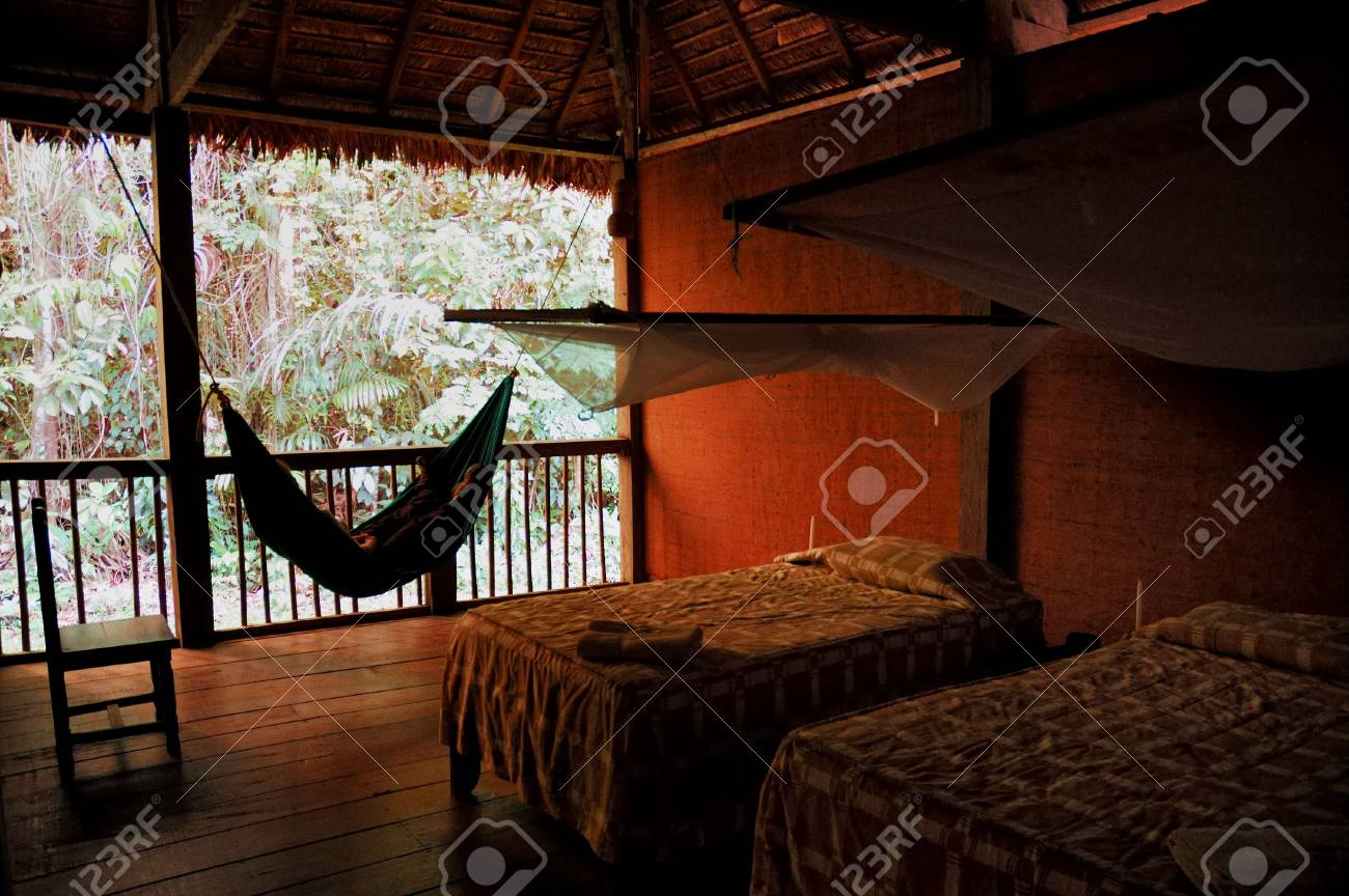 A typical hammock in a jungle lodge Stock Photo - 766361