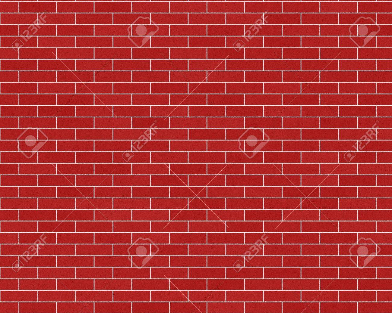 Dark Red Common Brick Wall Background Textured Stock Photo