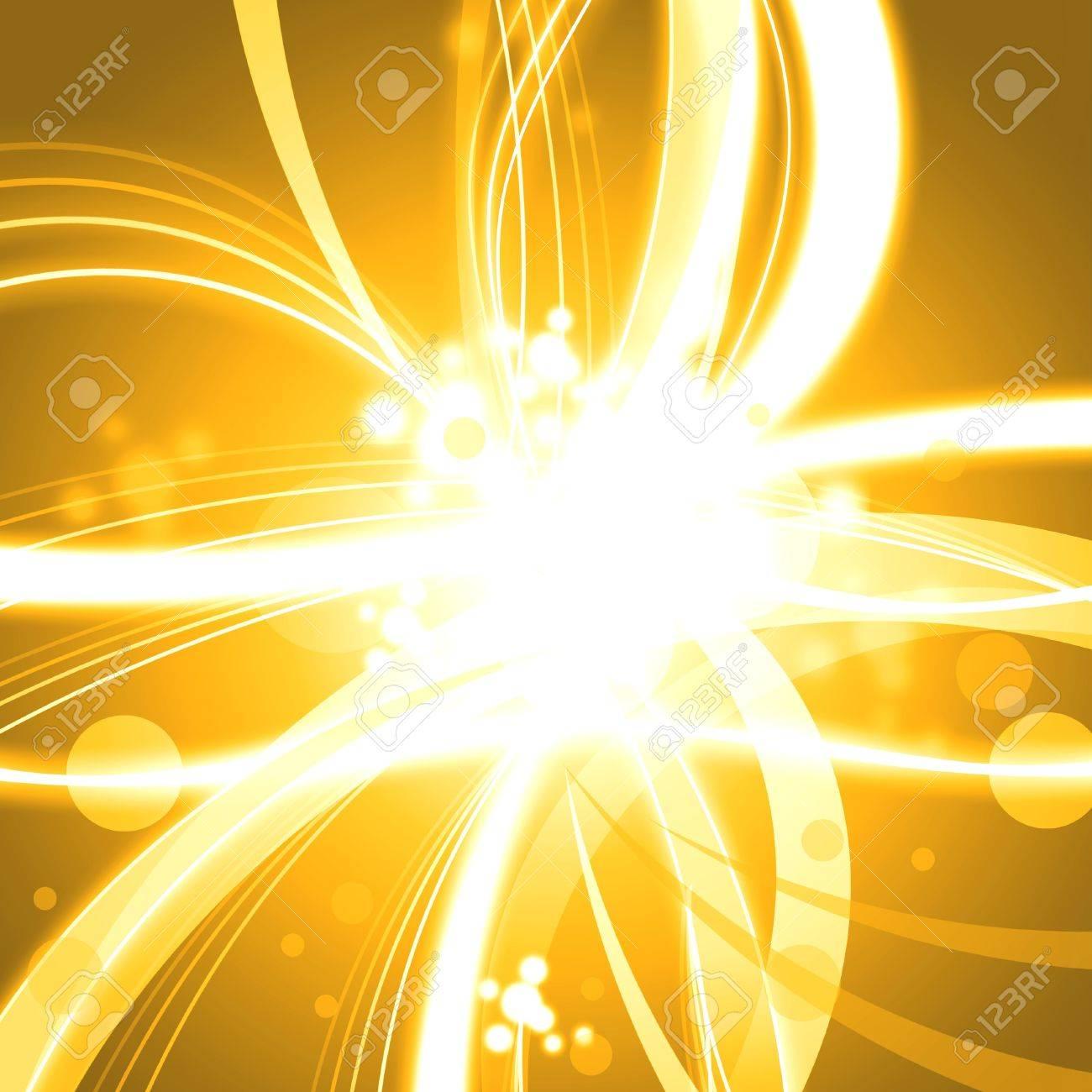 Golden shine abstract background illustration Stock Photo - 14619517