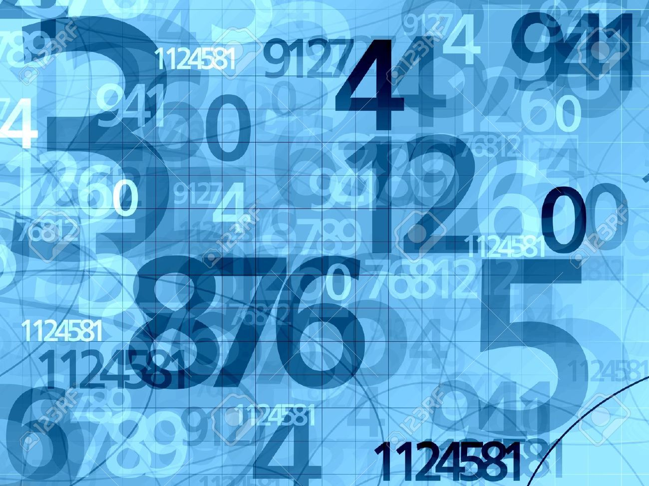 blue random numbers background illustration stock photo, picture and