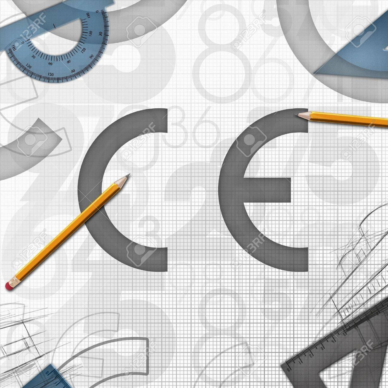 CE 欧州共同体のロゴの背景イラ...