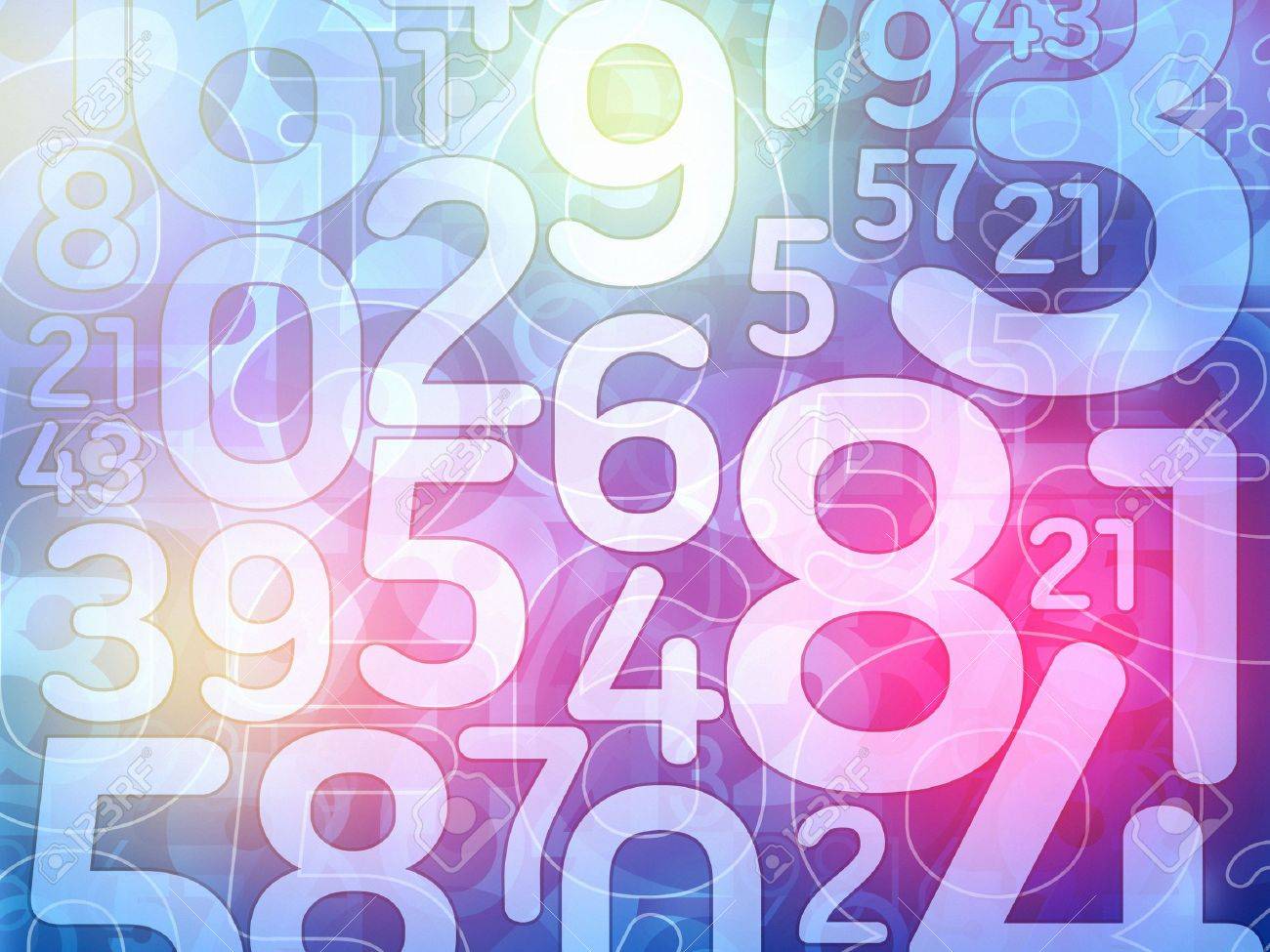 colorful random number math background illustration stock photo