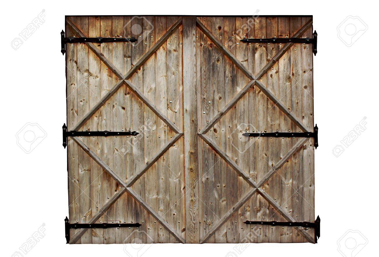 old barn wooden country door isolated on white background Stock Photo - 32381414  sc 1 st  123RF Stock Photo & Old Barn Wooden Country Door Isolated On White Background Stock ...