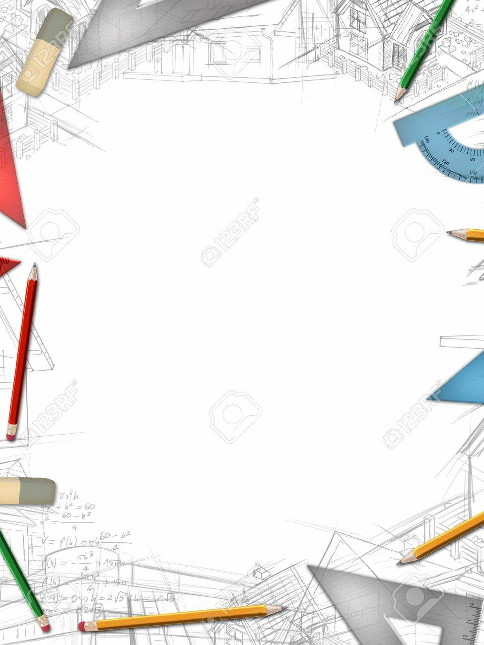 office drawing tools. Architectural Vertical Background With Office Tools And Drawings Illustration Stock - 32381477 Drawing U