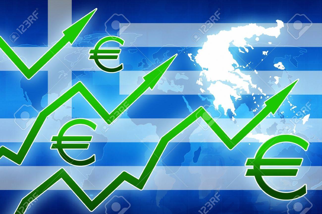 Financial increase in greece green arrows euro currency symbol financial increase in greece green arrows euro currency symbol concept news background illustration stock illustration buycottarizona Choice Image