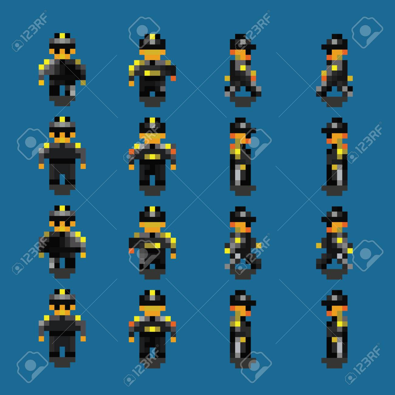 93835026-bodyguard-pixel-art-walk-animation-frames-vector-illustration Pixel Art Walking Animation @koolgadgetz.com.info