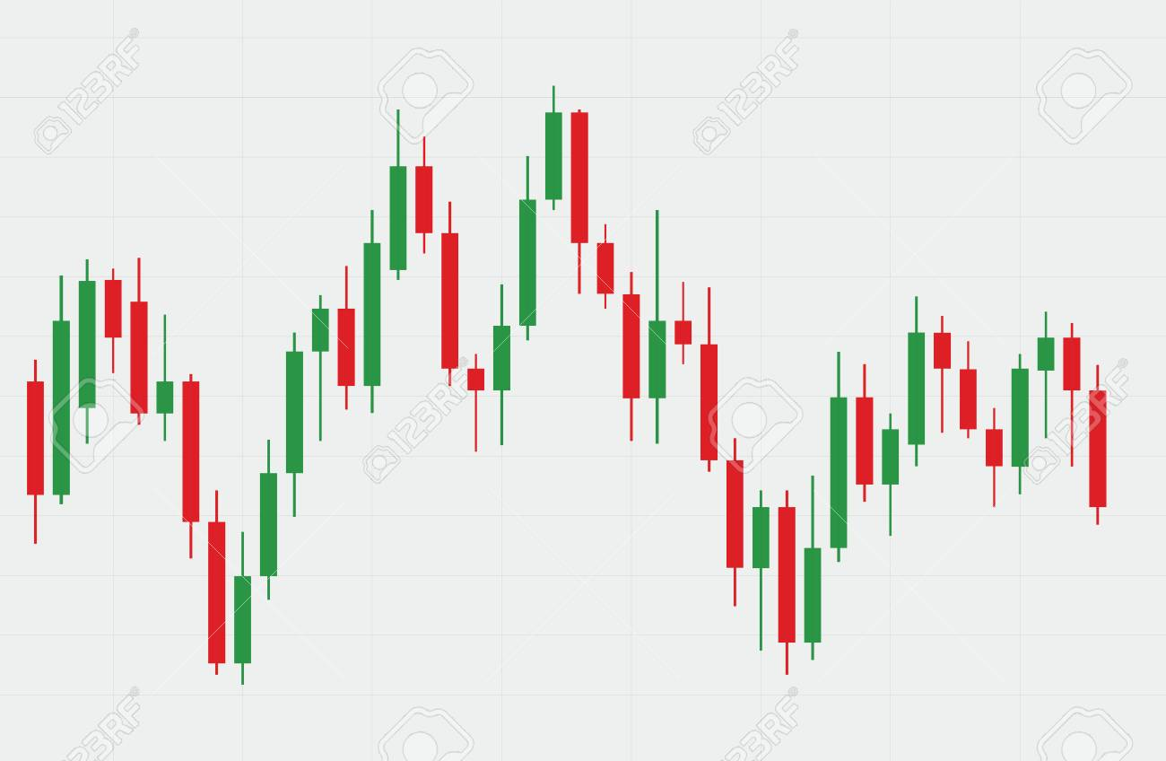 Candlestick stock exchange background vector - 88673664