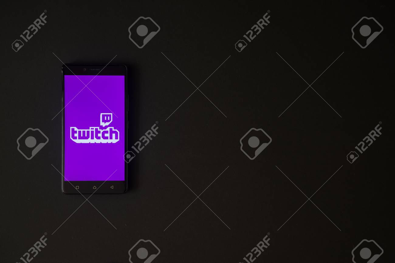 Los Angeles, USA, october 19, 2017: Twitch logo on smartphone