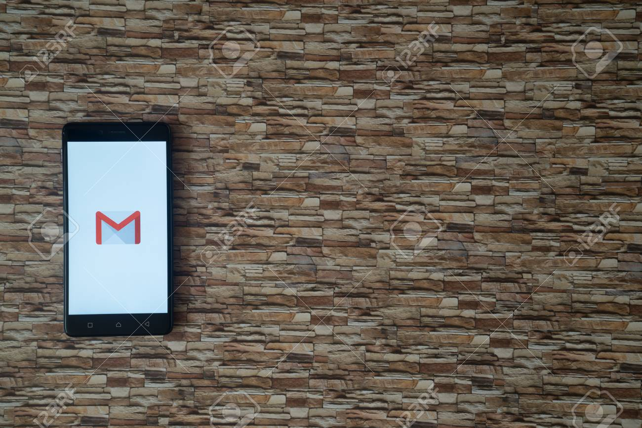Los Angeles Usa October 19 2017 Gmail Logo On Smartphone