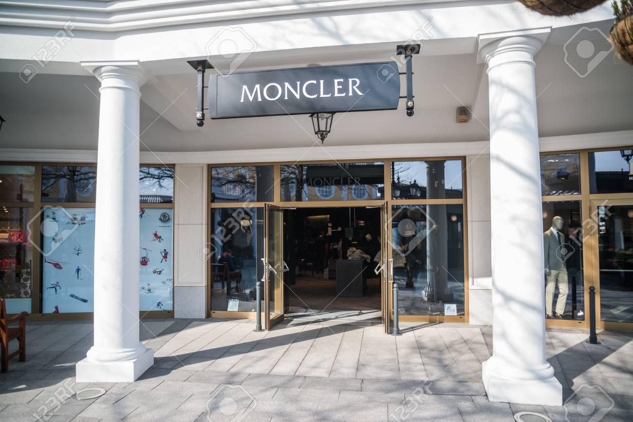 premium selection 7bdec 8bf07 Parndorf, Austria, february 15, 2018: Moncler store in Parndorf,..