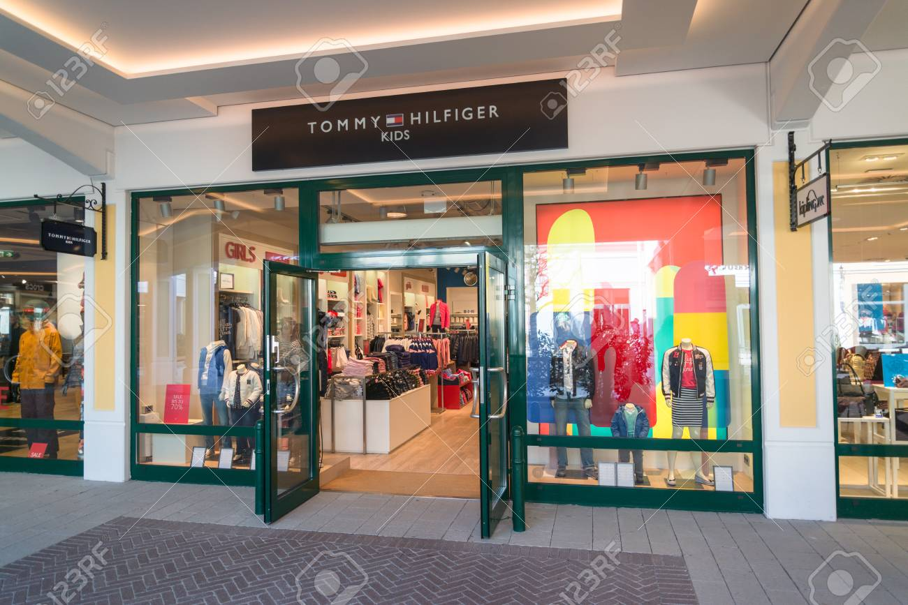 a6496fbe Parndorf, Austria, february 15, 2018: Tommy Hilfiger Kids store in Parndorf,
