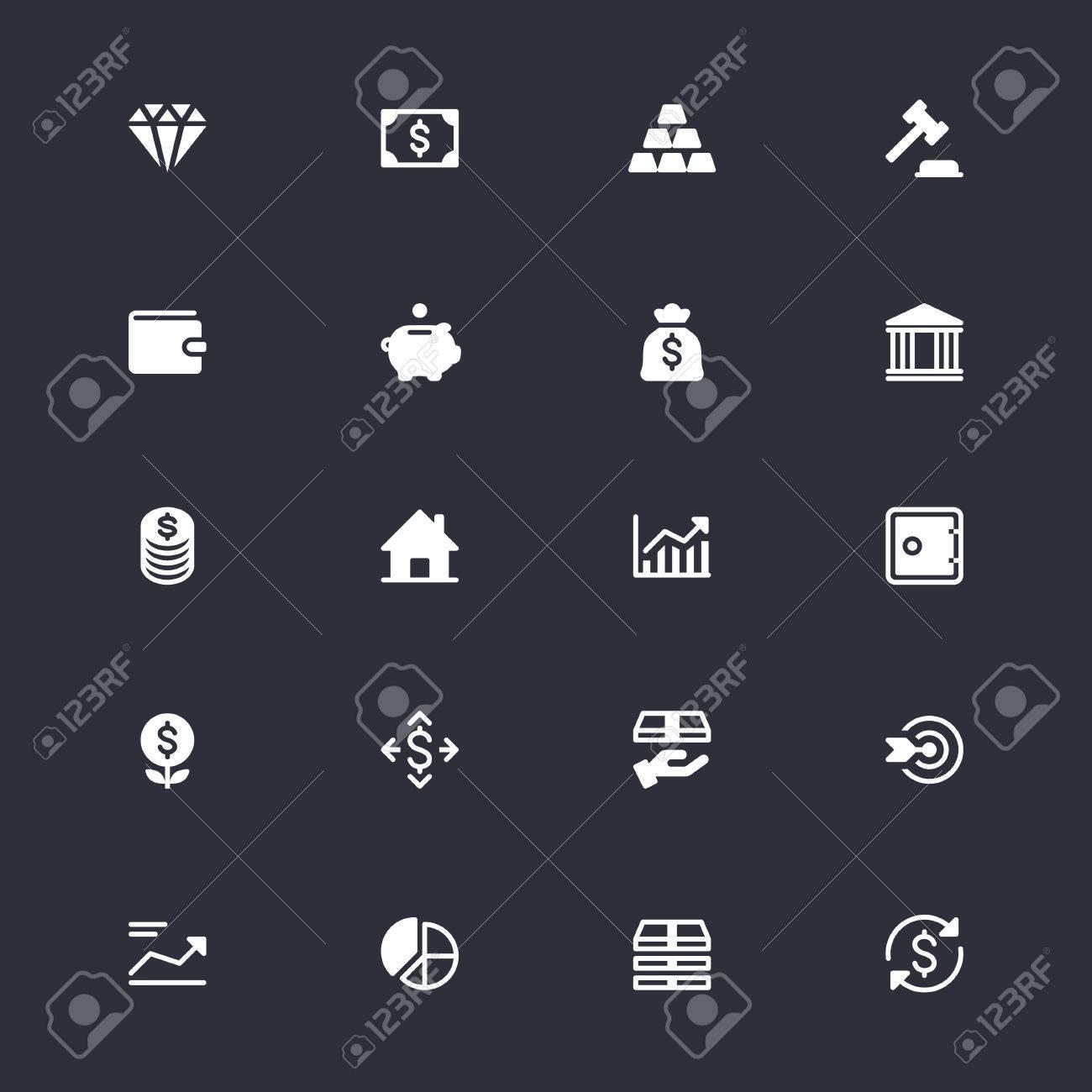 Geschäfts- Und Investitions Einfache Symbole Lizenzfrei Nutzbare ...