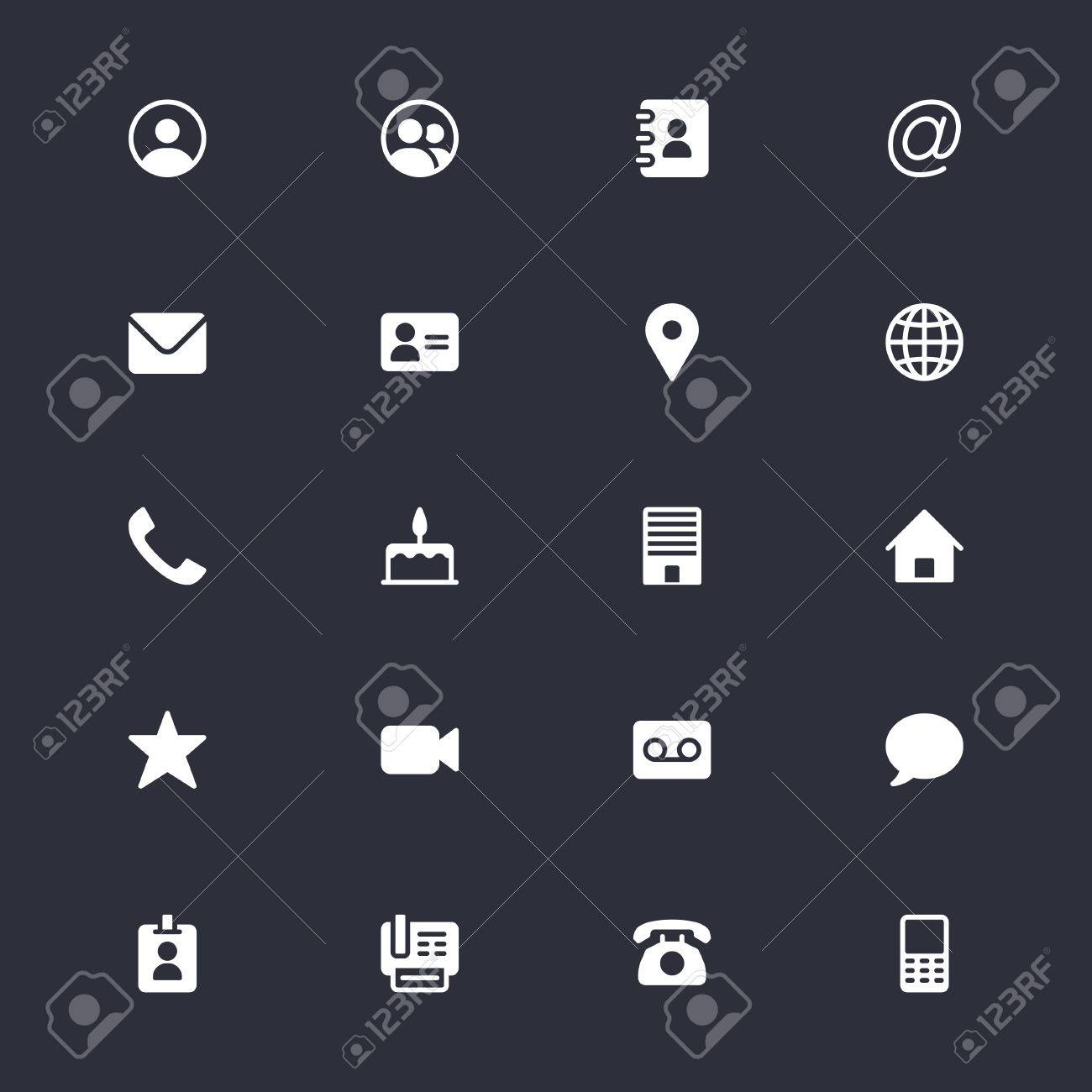 Contact simple icons - 58105469