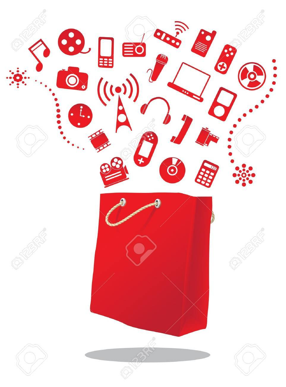 electric shop Stock Vector - 16455649