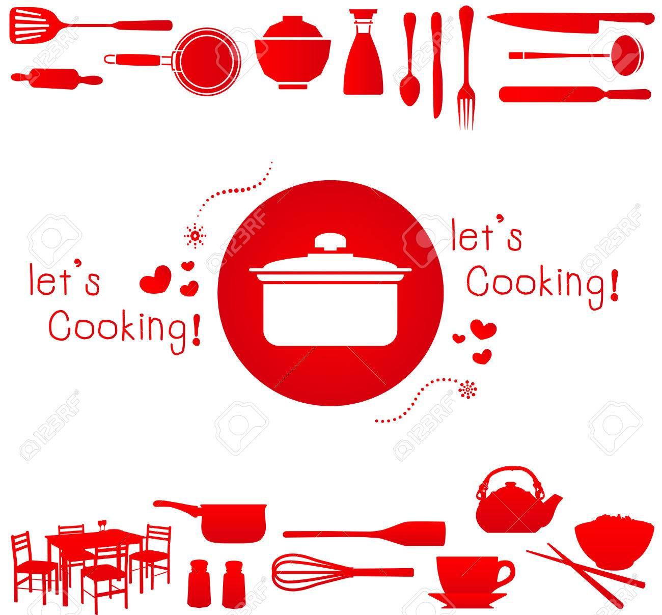 Good Foto De Archivo   Vamos A Cocinar! Ilustración