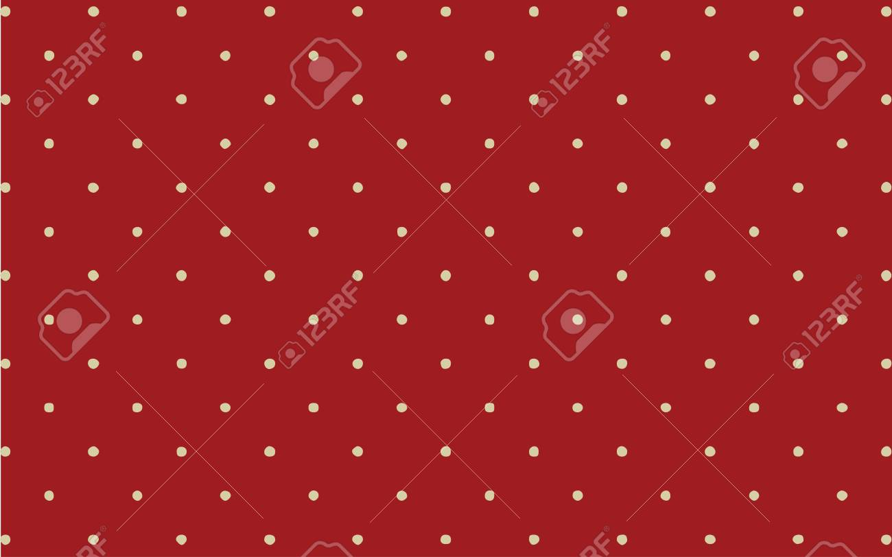 A Classic White Polka Dot On Red Background Wallpaper Backdrop Stock Vector