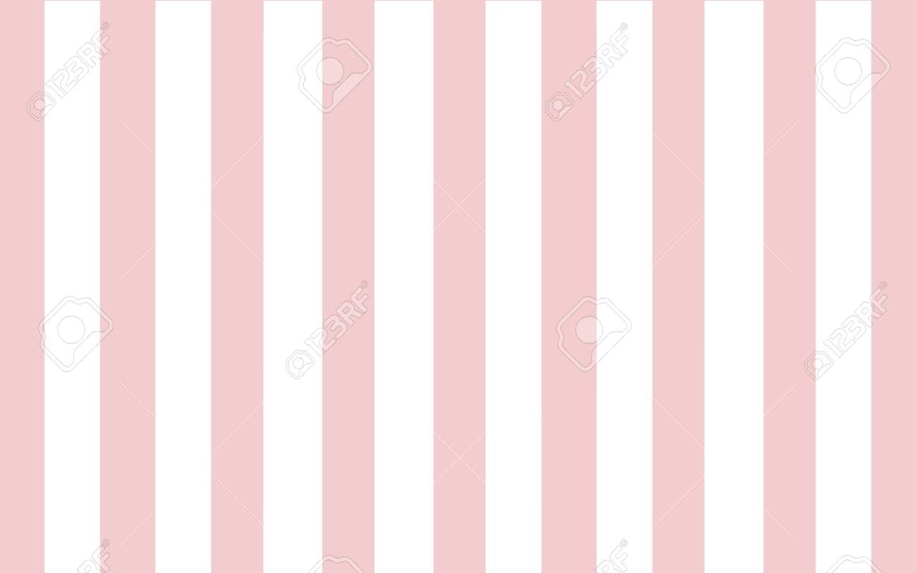 Classic Pink And White Stripe Wallpaper Backdrop Stock Vector