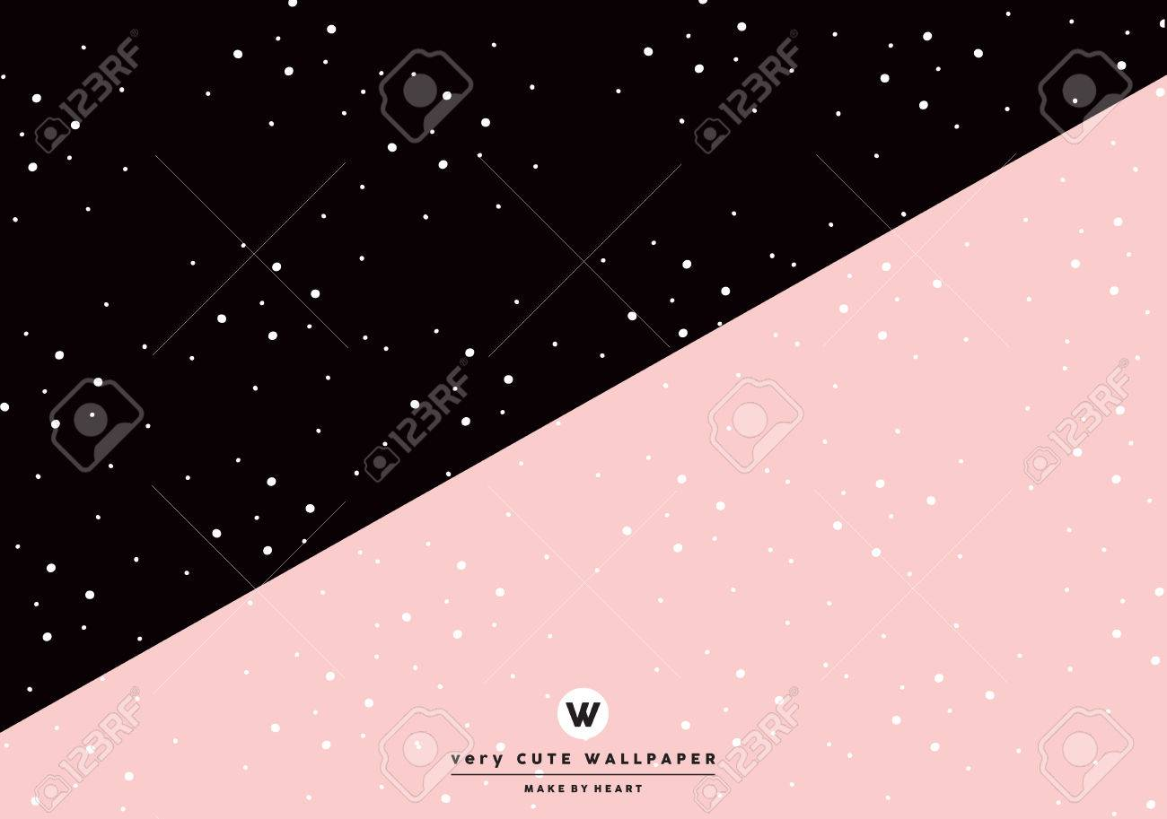 Classic Black And Pink Cute Two Tone Wallpaper Royalty Free Cliparts Vectors And Stock Illustration Image 70664886