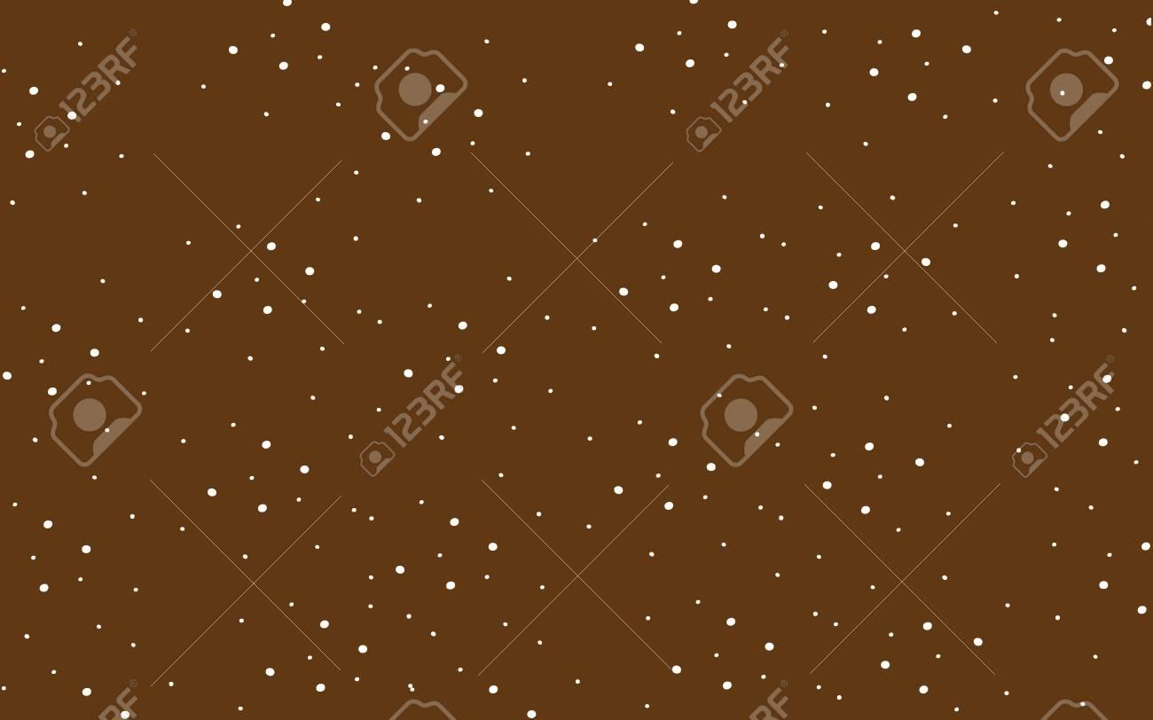白い水玉模様の古典的な茶色の壁紙がかわいいのイラスト素材・ベクタ ...
