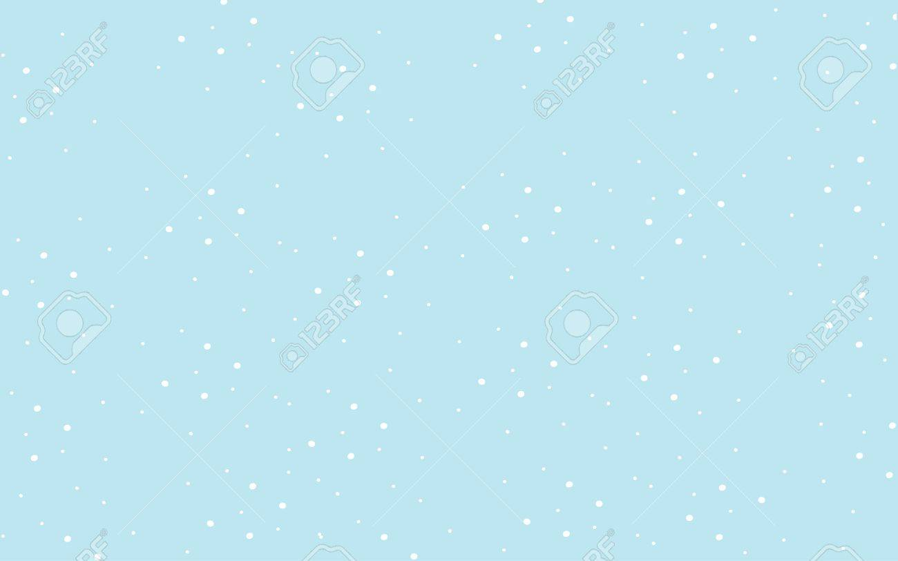 Classic Pastel Blue Cute Wallpaper With White Polka Dots Royalty