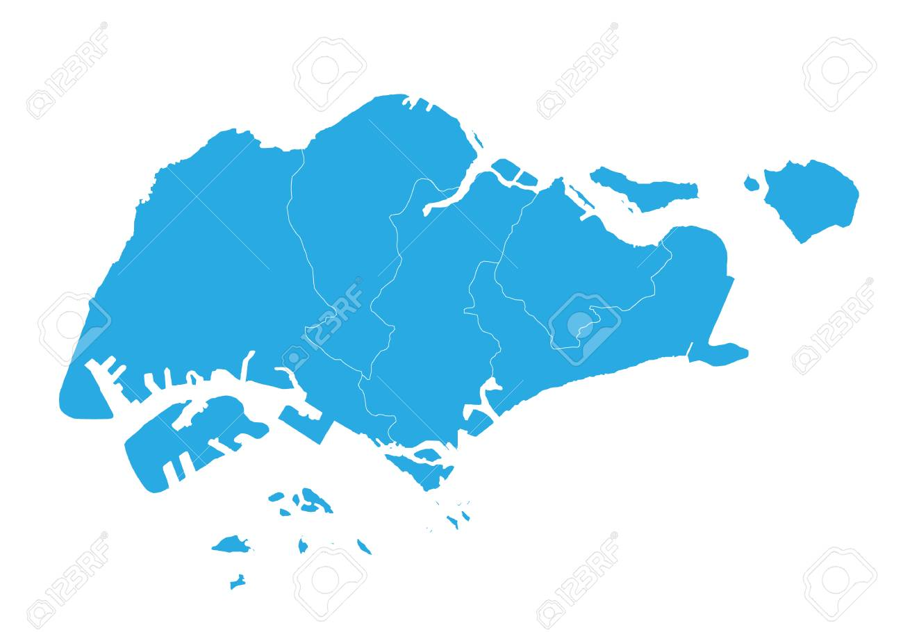 Map Of Singapore. High Detailed Vector Map - Singapore. Royalty Free ...