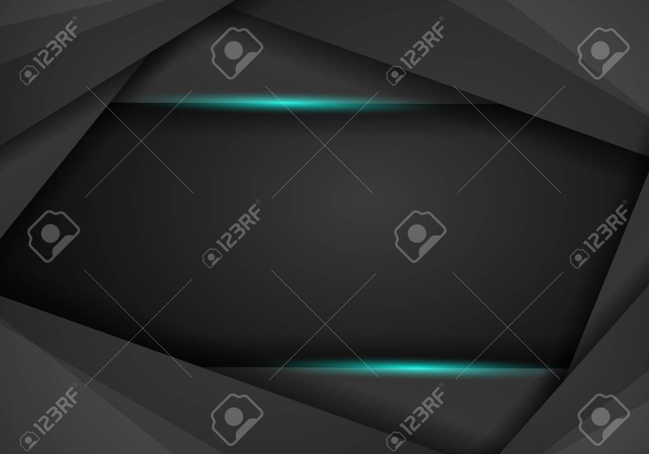 abstract metallic Blue black frame layout modern tech design