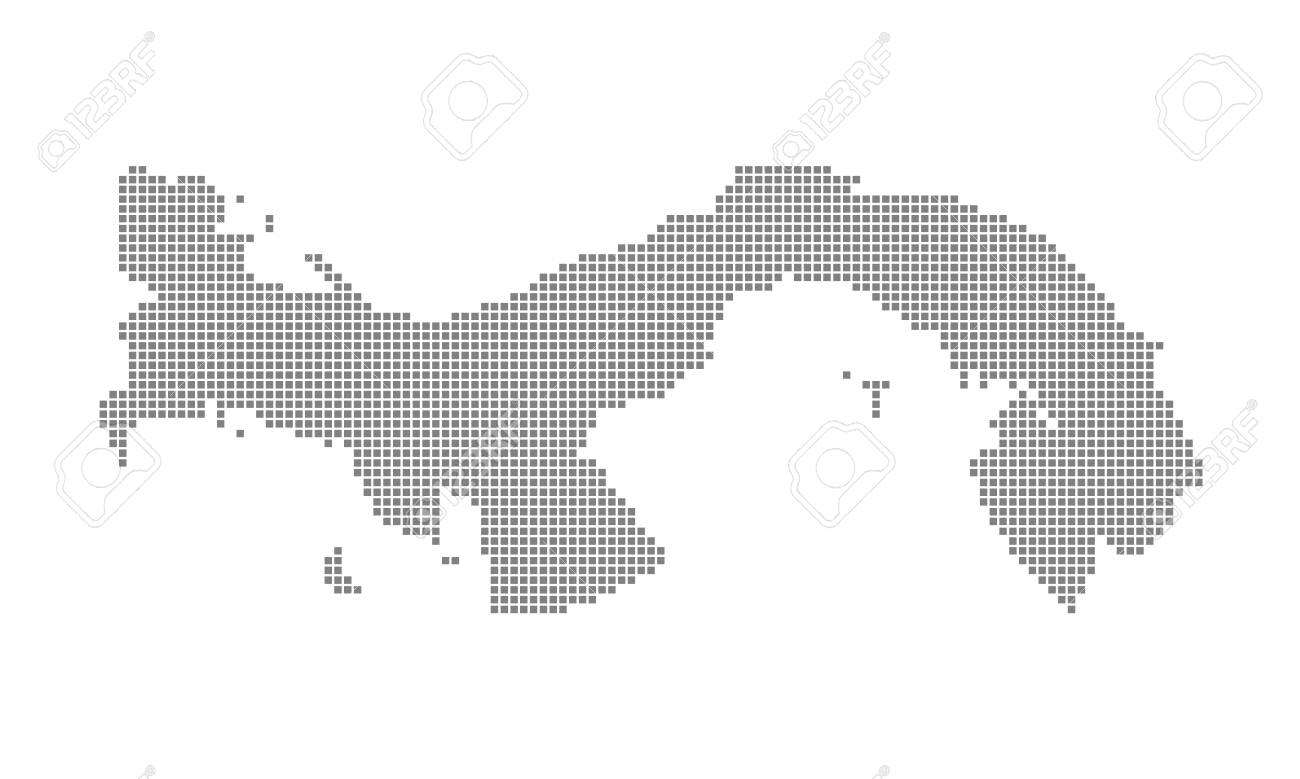 Pixel Map Of Panama. Vector Dotted Map Of Panama Isolated On White ...