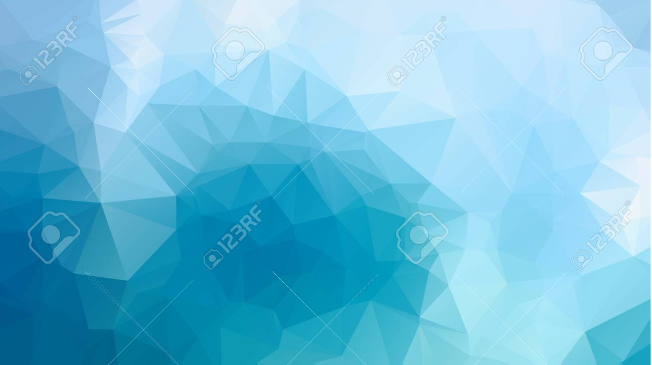 Shiny And Colorful Blue Low Poly Geometrical Background Great As A Wallpaper Design Template Flyer Etc