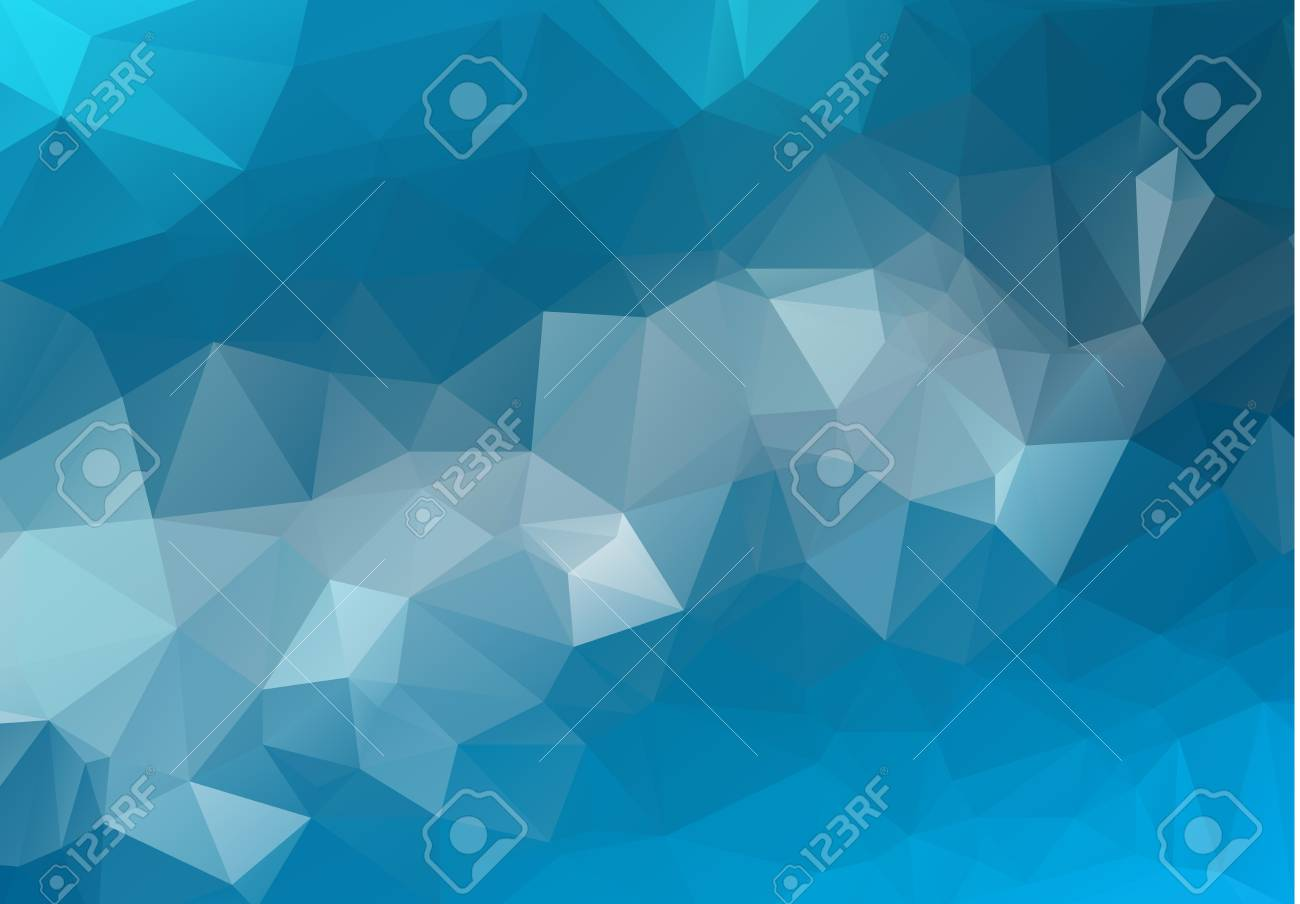 Abstract Light Blue Vector Blurry Triangle Background Design