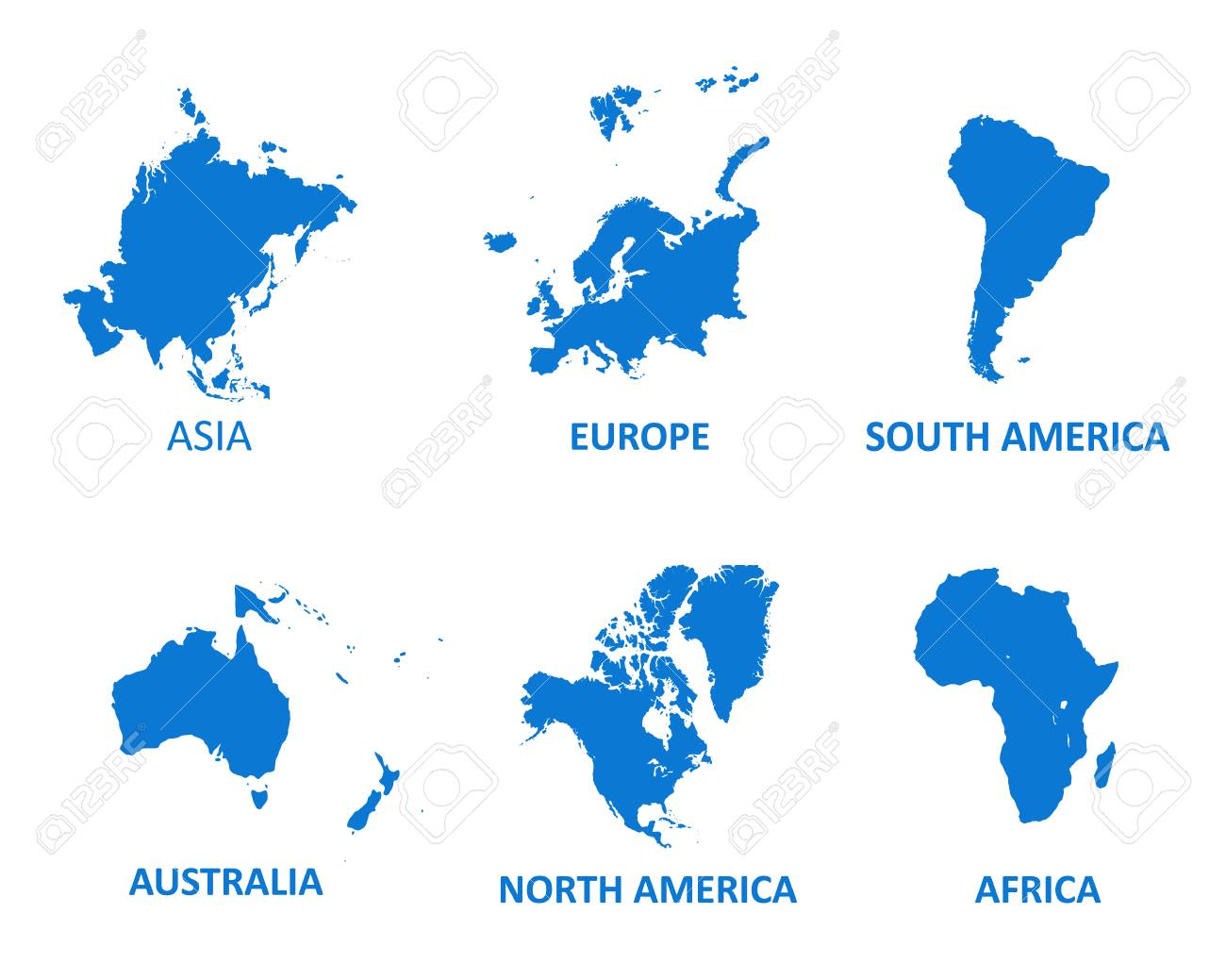 Picture of: World Continents Vector Map Vector Illustration On White Background Royalty Free Cliparts Vectors And Stock Illustration Image 113151973