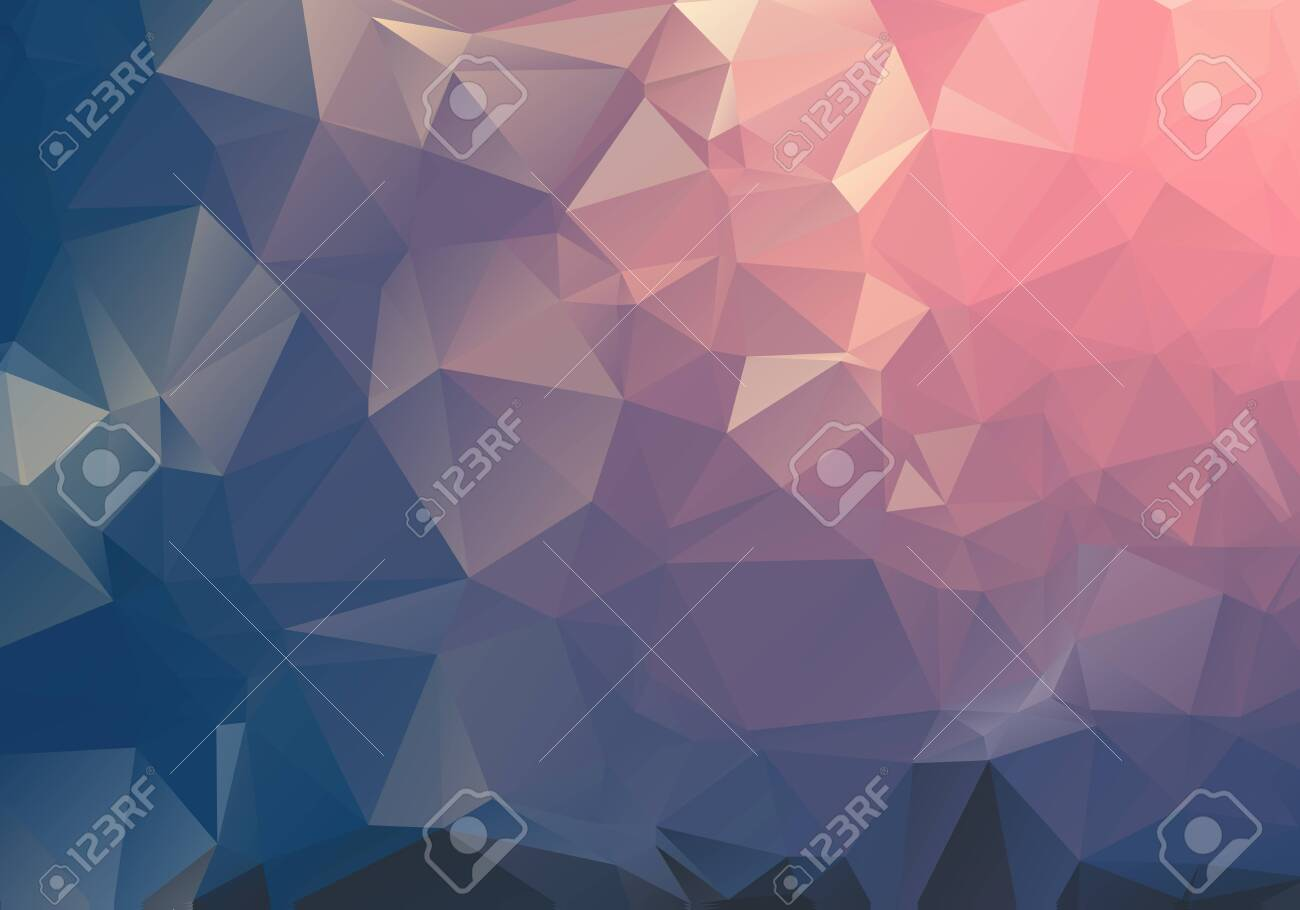 Dark Light geometric rumpled triangular low poly origami style gradient illustration graphic background. Vector polygonal design for your business. - 121275229