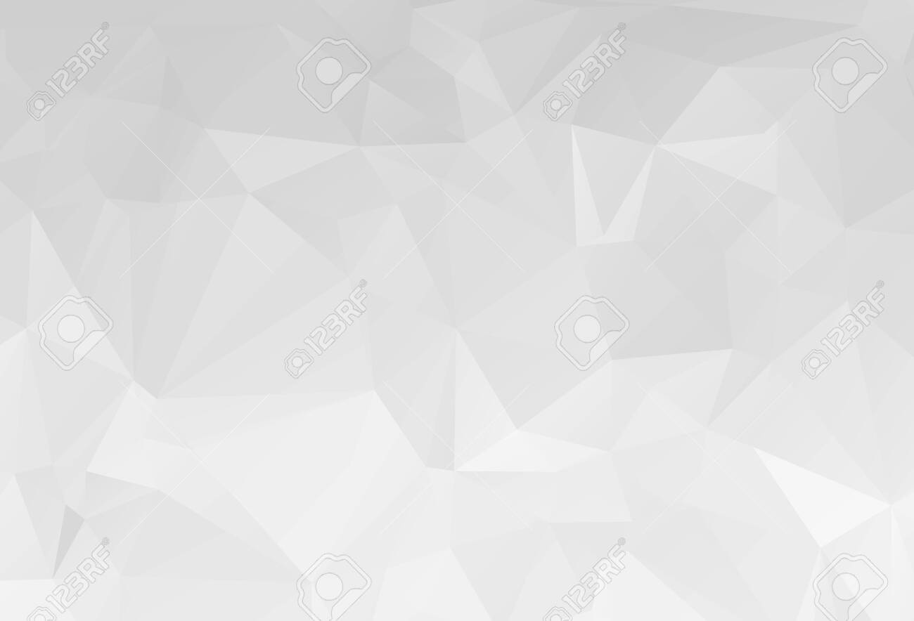 Gray White geometric rumpled triangular low poly origami style gradient illustration graphic background. Vector polygonal design for your business. - 121275238