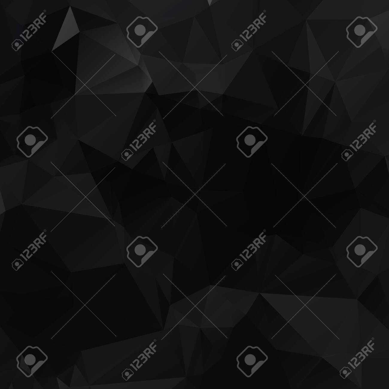 Black polygonal illustration, which consist of triangles. Geometric background in Origami style with gradient. Triangular design for your business. - 121276527