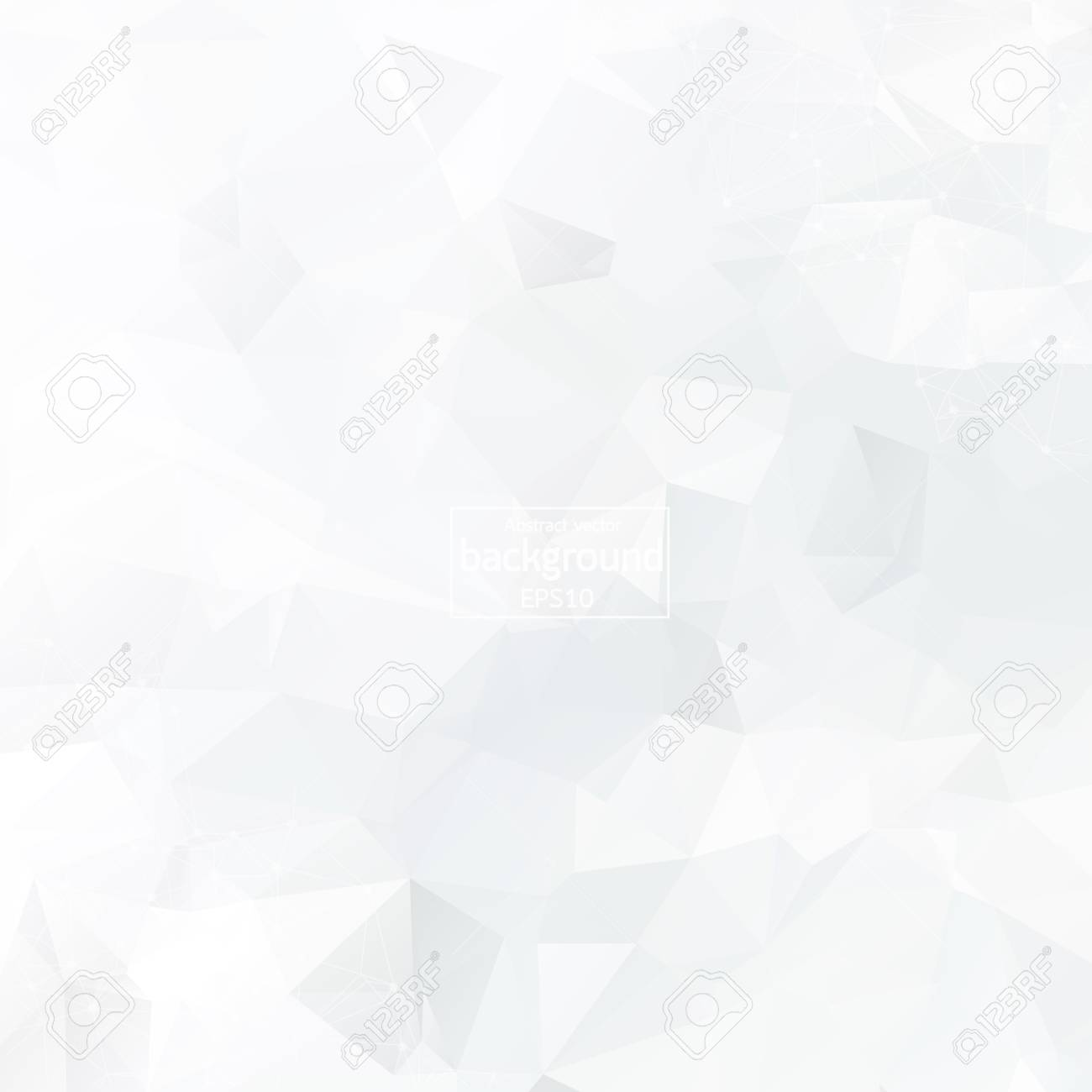 Abstract polygonal background. White triangles background for your design. Geometrical lines vector eps 10 - 121276702