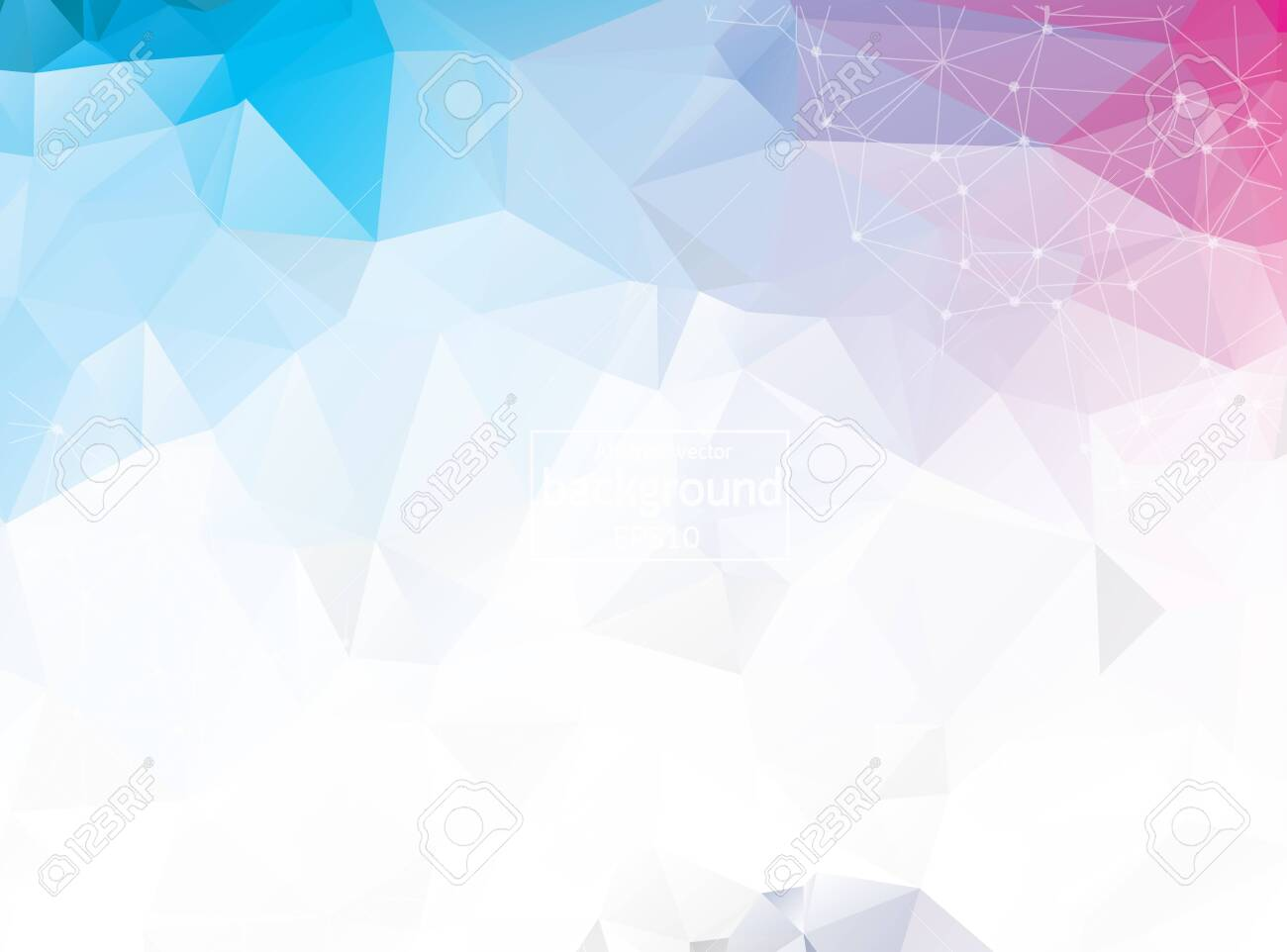 Abstract triangular blue background with polygonal abstract shapes - 121276704