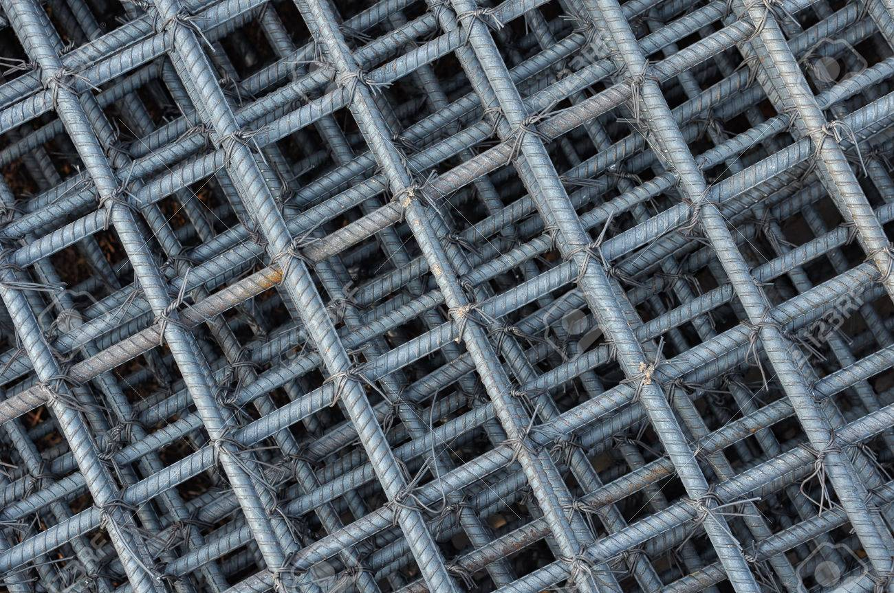 Steel Wire Background, Foundation Rods At The Construction Site ...