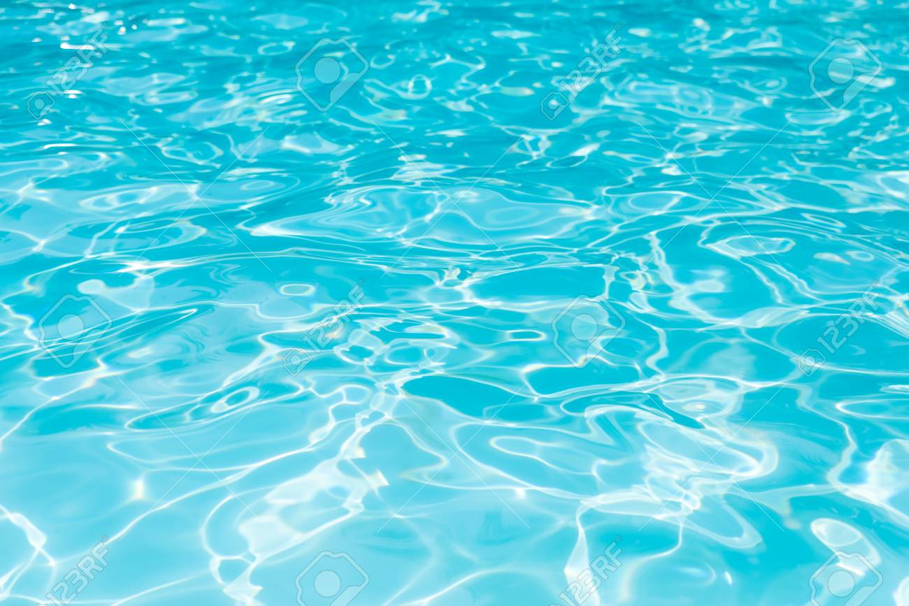 Blue water surface and ripple wave in swimming pool for background,..