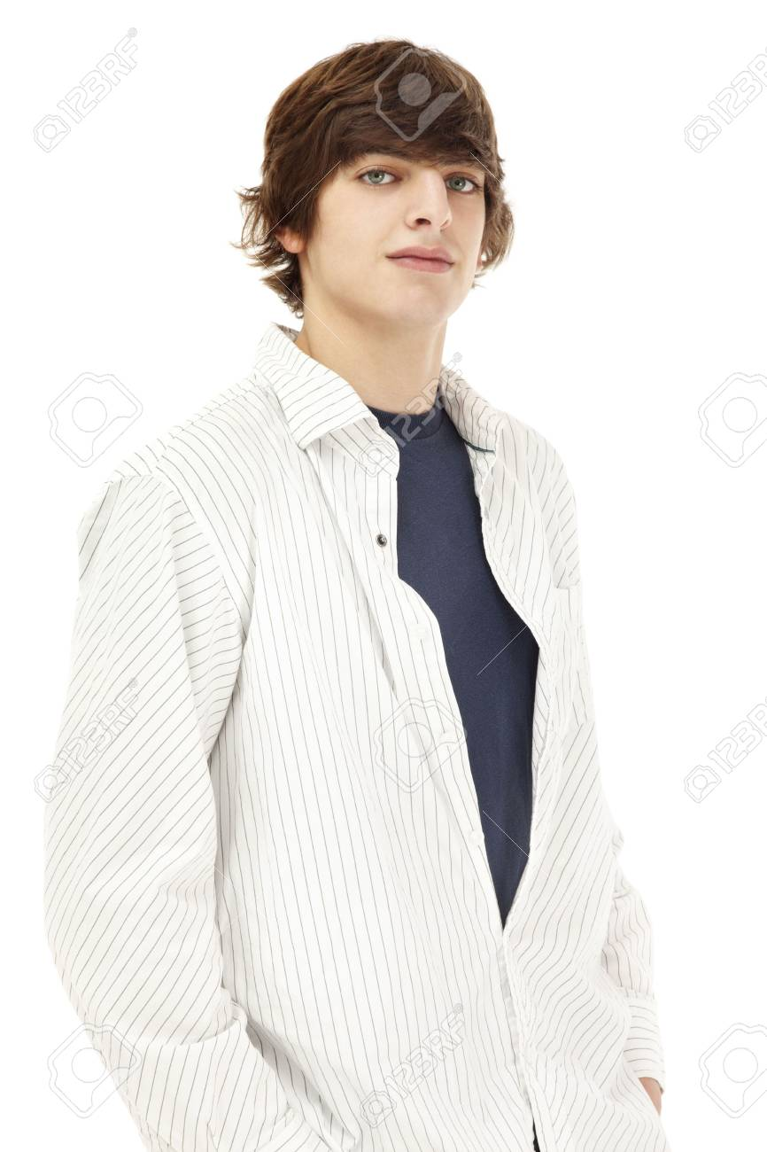 Photo of a casual young man, isolated against a white backdrop Stock Photo - 4053780