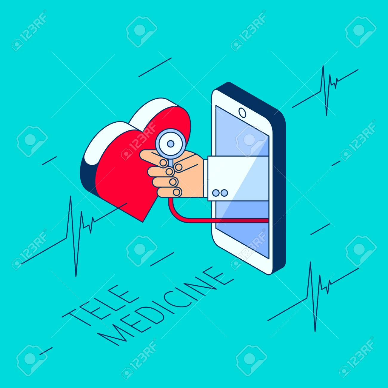 doctor\u0027s hand holding a stethoscope through the phone screen