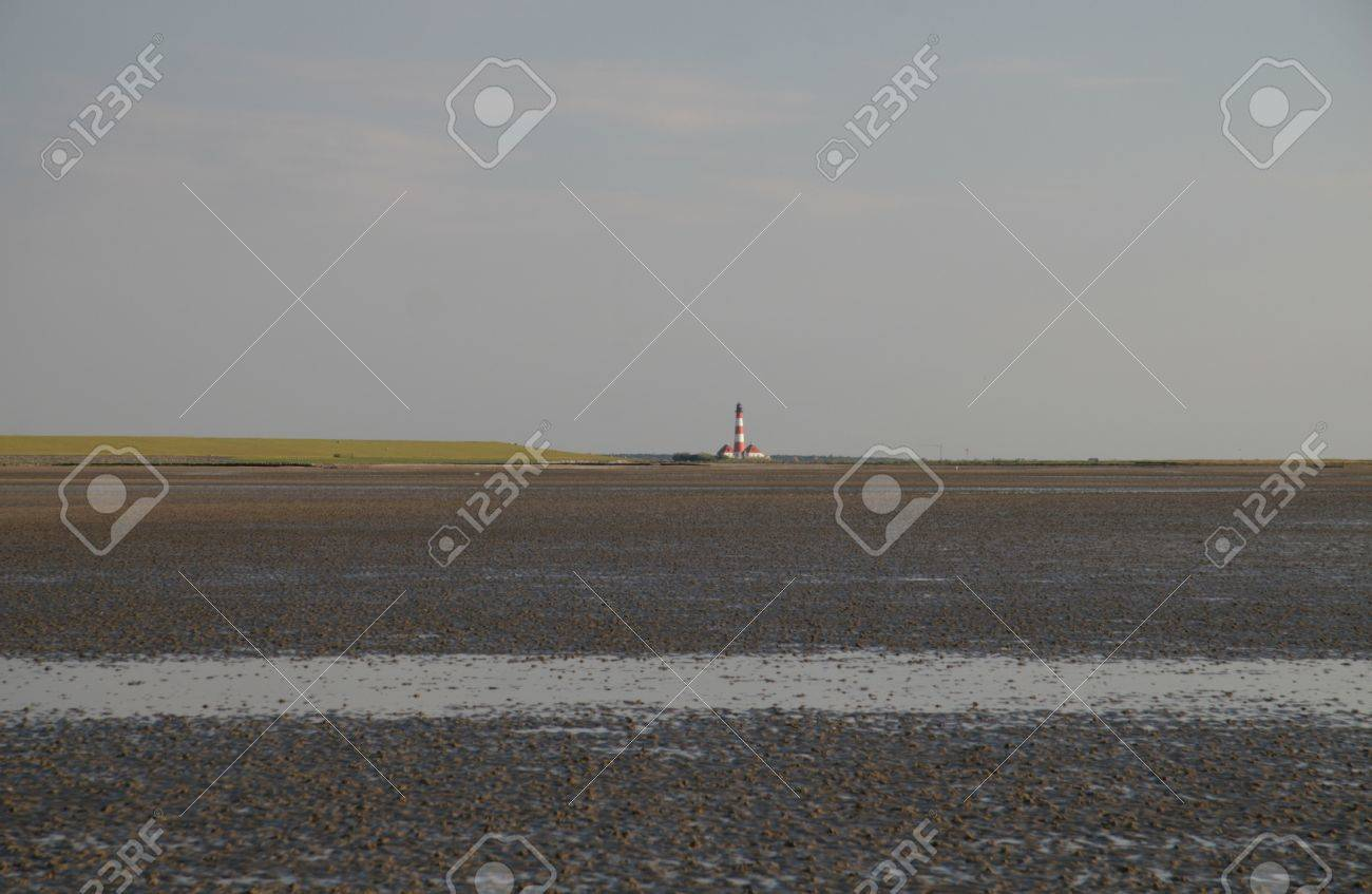 Westerheversand Lighthouse Stock Photo - 22128544