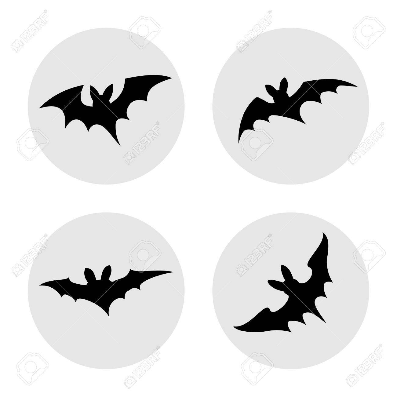 簡単なハロウィンのコウモリ Iconsobjects のベクトル イラストの