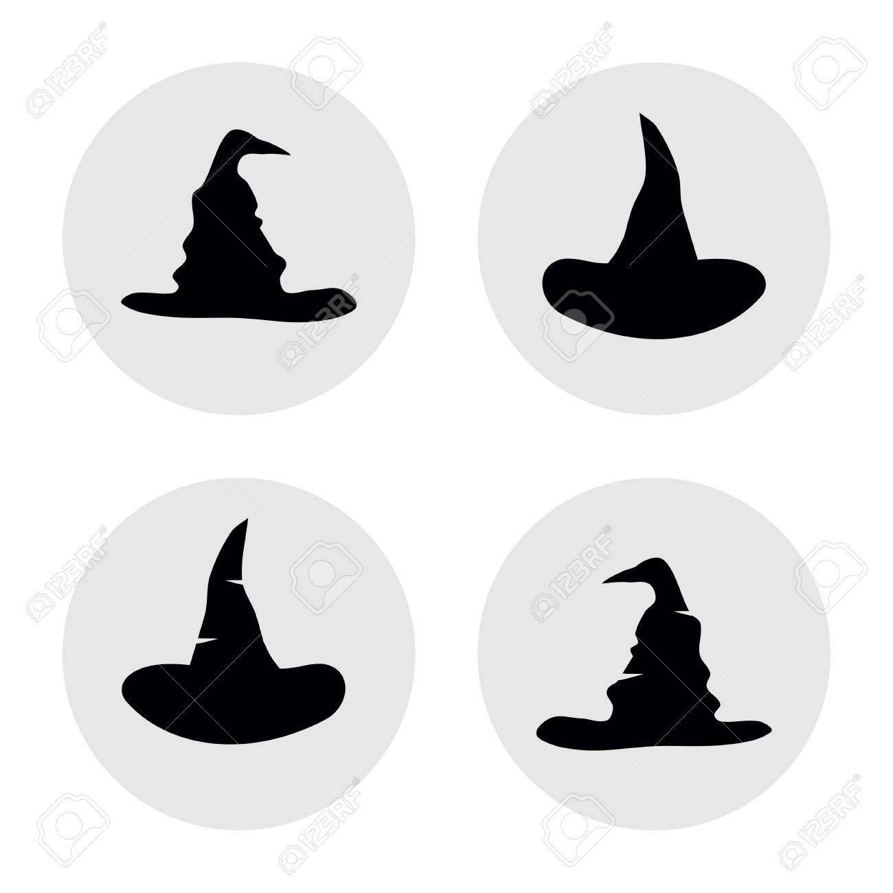 簡単なハロウィンの帽子アイコンオブジェクトのベクトル イラストの