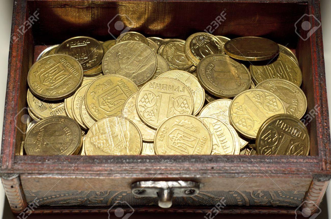 コインをクローズ アップ 壁紙 ウクライナのお金 グリブナ の写真